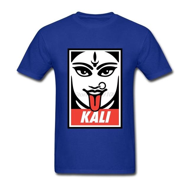 Geek Kali Pre-camiseta de algodón de Manga Corta Camiseta Ocasional de Los Hombres de Gran Tamaño camiseta