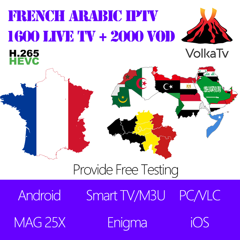 Volka NEO IPTV Arabic French IPTV subscription Line 1800 Live TV 2000 VOD for MAG Android Smart TV Enigma iOS Mobile Tablet PC