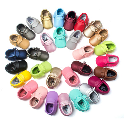 Handmade Soft Bottom Fashion Tassels Fringe Baby Moccasin Newborn Babies Shoes PU Leather Prewalkers Boots For 0-18M Girls Boys