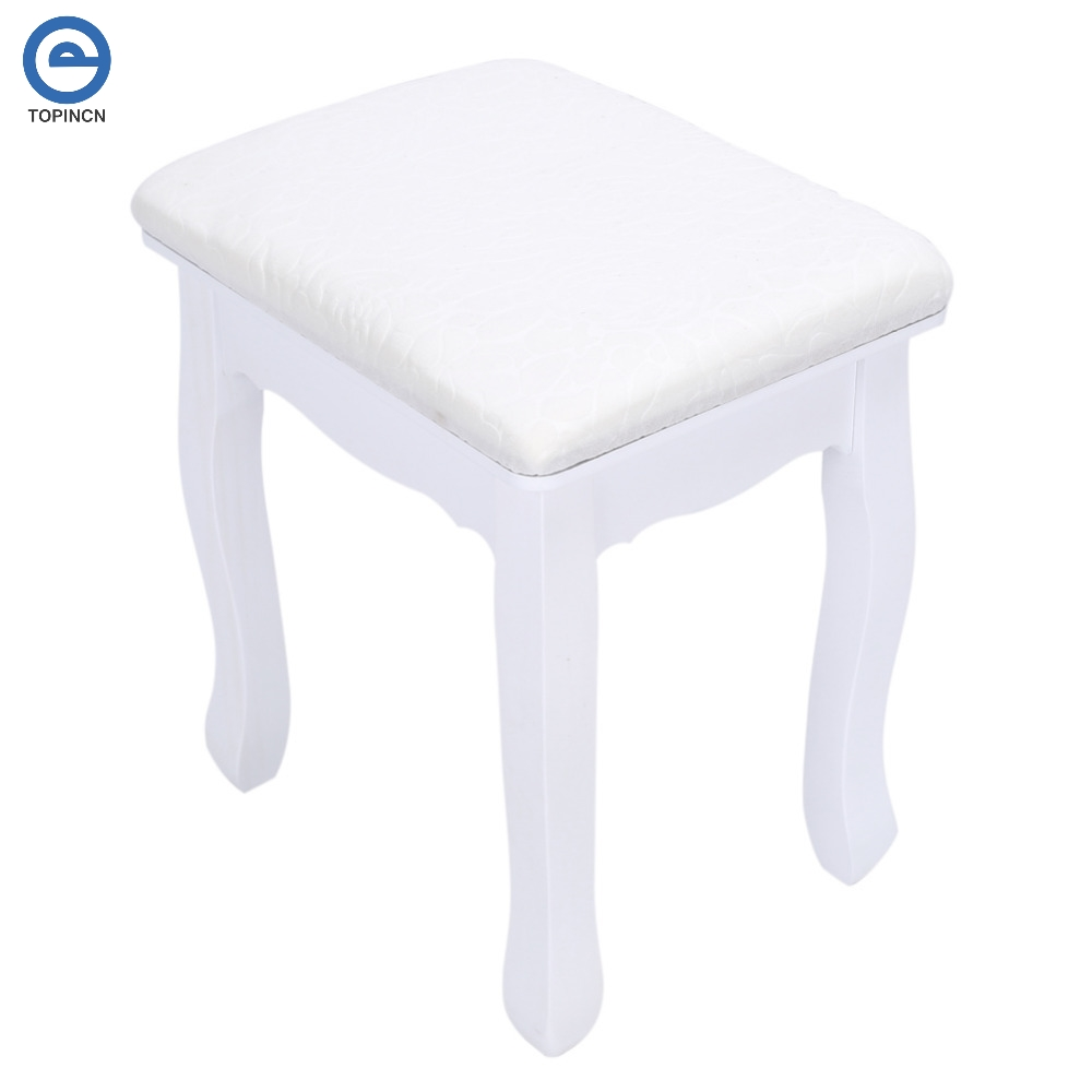 Bedroom furniture dressing table stools - Bedroom Dressing Stool Makeup Chair Solid Woood Handmade Woman Furniture Girl Dresser Stool Chair With Flower