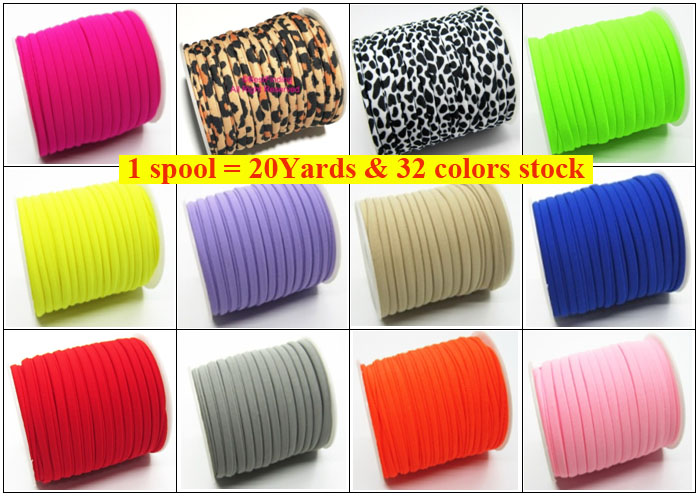 1spool Lycra Cord Stitched Elastic Lycra Cord Fabric Lycra Stripe