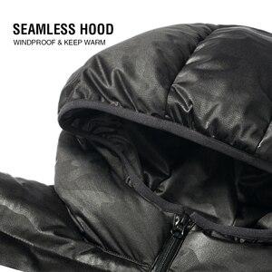 Image 5 - Markless zima bez szwu dół kurtki marki odzież gruba 90% biały puch kaczy wiatroszczelna ciepły płaszcz kurtka z kapturem dla mężczyzn i kobiet