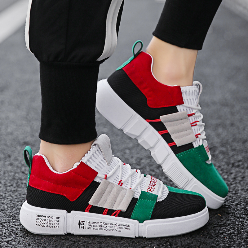 BomKinta Vintage Colorful Running Shoes Men Brand Designer Sneakers Mixed Colors Sports Shoes Outdoor Male Cool Athletic Traners
