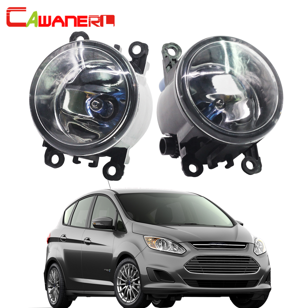 Cawanerl 2 X 100W H11 Car Halogen Fog Light DRL Daytime Running Lamp 12V Accessories For Ford C-Max 2 MPV 2010-2015 cawanerl 2 x car led fog light drl daytime running lamp accessories for nissan note e11 mpv 2006