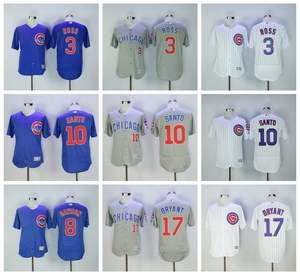 0d6bc1dcc6b MLB JERSEYS Chicago Cubs Kris Bryant David Ross Andre Dawson Ron Santo 2016  Series