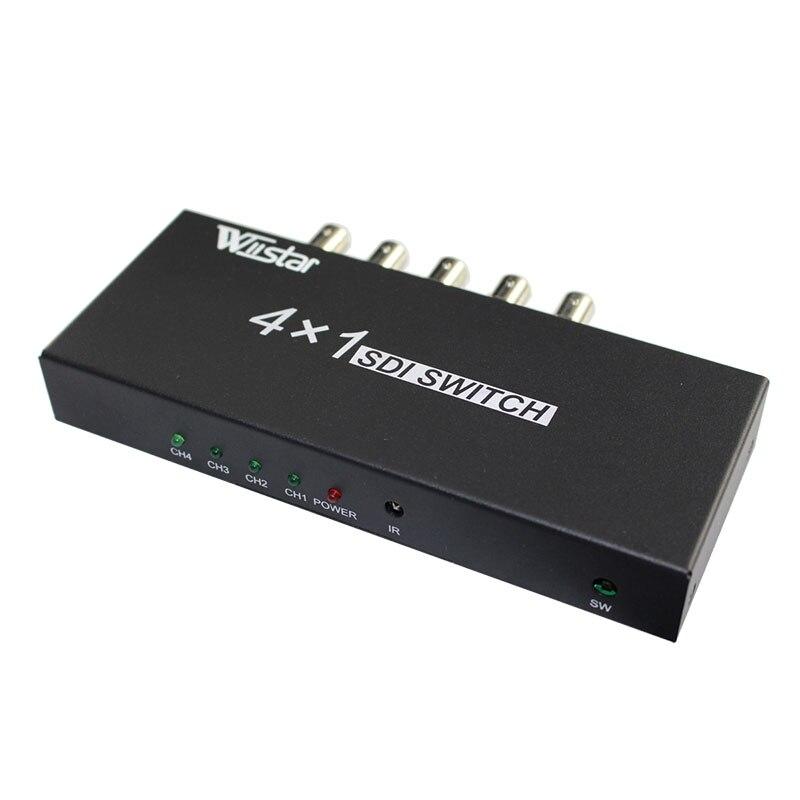 WiistarSDI 4*1 переключатель 4 каналов сигнала SDI в SDI с 1 канала сигнал полный-HD SDI сигнала входных и выходных Бесплатная доставка