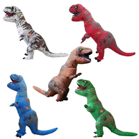 Inflatable Dinosaur Costume Party Cosplay Costumes For Women Men Jurassic Park Disfraces Adultos T REX Christmas