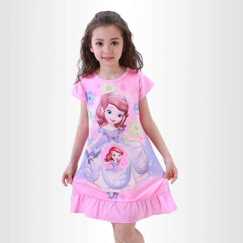 Summer Girls Princess Dresses New Listing 2018 Children Clothing Baby Pajamas Cotton Nightgown Kids Home Cltohing Girl Sleepwear