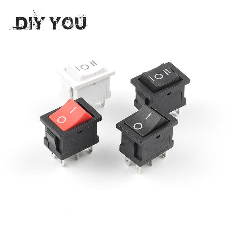 5pcs 15*21mm 6PIN ON//OFF//ON Rocker Switch AC 6A//250V 10A//125V US