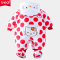 Christmas Gifts Baby rompers 2014 One-piece Costumes Hello Kitty Newborn baby girl  long sleeve Autumn Winter baby wear Overalls