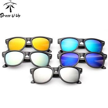 DRESSUUP Vintage Baby Boy Girls Kids Sunglasses Coating Sunglasses Children Sun Glasses Oculos De Sol Gafas