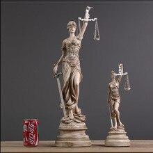 Diosa Griega De Justicia Themis Estatua Artesanías de Resina Retro Decoración Del Hogar