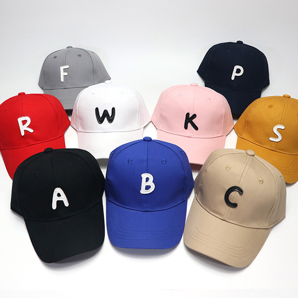 1-5Y Baby Boy Girl Hat Summer Soft Cotton Eaves Letter   Baseball     Cap   Hat Beret