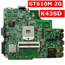 K43SD GT610M 2 GB системная плата Rev 4,1 USB 3,0 для ASUS K43SD X43S A43SD Материнская плата ноутбука K43SD материнская плата K43SD материнская плата