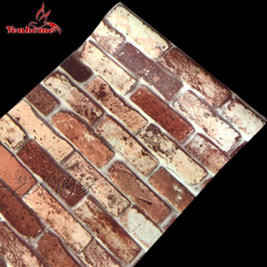 10M Modern Stone Self adheisve PVC Wallpaper Brick <font><b>Wall</b></font> Paper Roll For Living Room TV Background Home Decor <font><b>Wall</b></font> <font><b>Stickers</b></font> Decals