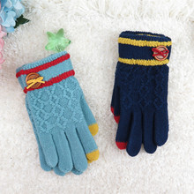 GLV950 fall and winter touch screen font b gloves b font jacquard fleece keep warm knitting
