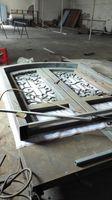 Szanghaj Chiny fabryka kute Żelazne drzwi wysokiej jakości eksport do USA, model hench-ad13