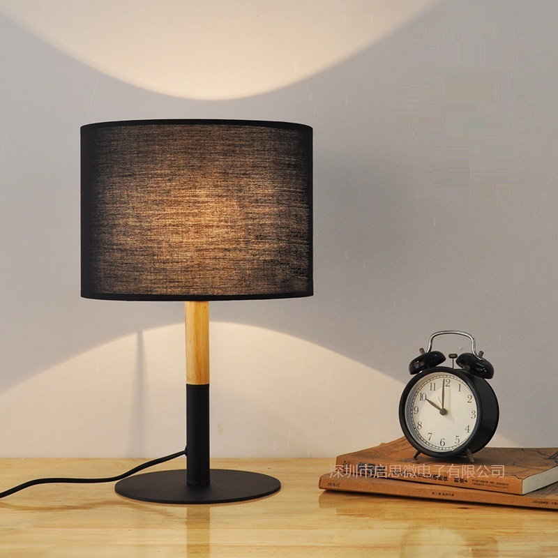 Vintage Loft Black/white Table Lamp Cloth Light E27 AC 110V/220V For Living Room Bedroom Study room Bedside Home Decor wooden table lamp 280 280 400mm e27 wood cloth white desk light for study room bedroom home decoration living room wtl014