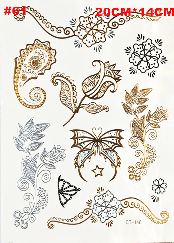 2015 shimmering luxury watches temporary tattoo sticker free shipping