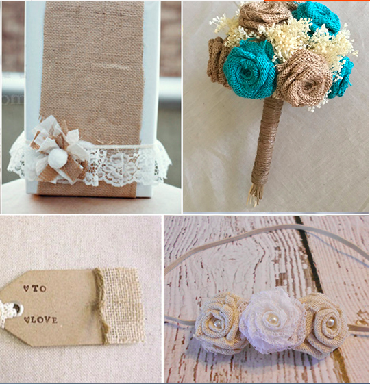 Diy Burlap Wedding Ideas: 12PC Natural Jute Burlap Hessian Flower Rose Handmade