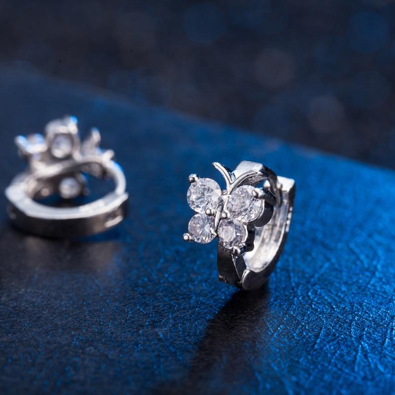 Mode 925 Sterling Silver Luxury Crystal Stud Örhängen Butterfly - Märkessmycken - Foto 2