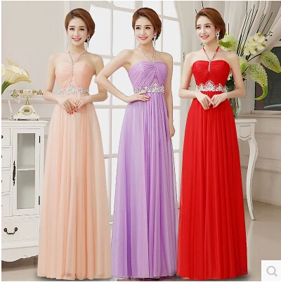 7053f92cfb Long Prom Dresses 2016 A Line Evening Dress Party Long Slim Red Spaghetti Strap  Halter Neck Beading Tube Top Costume Party