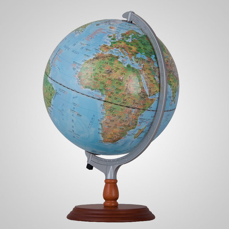 30cm Led 3d Relief Mountain Earth Globe Table Lamp Cold Warm Current