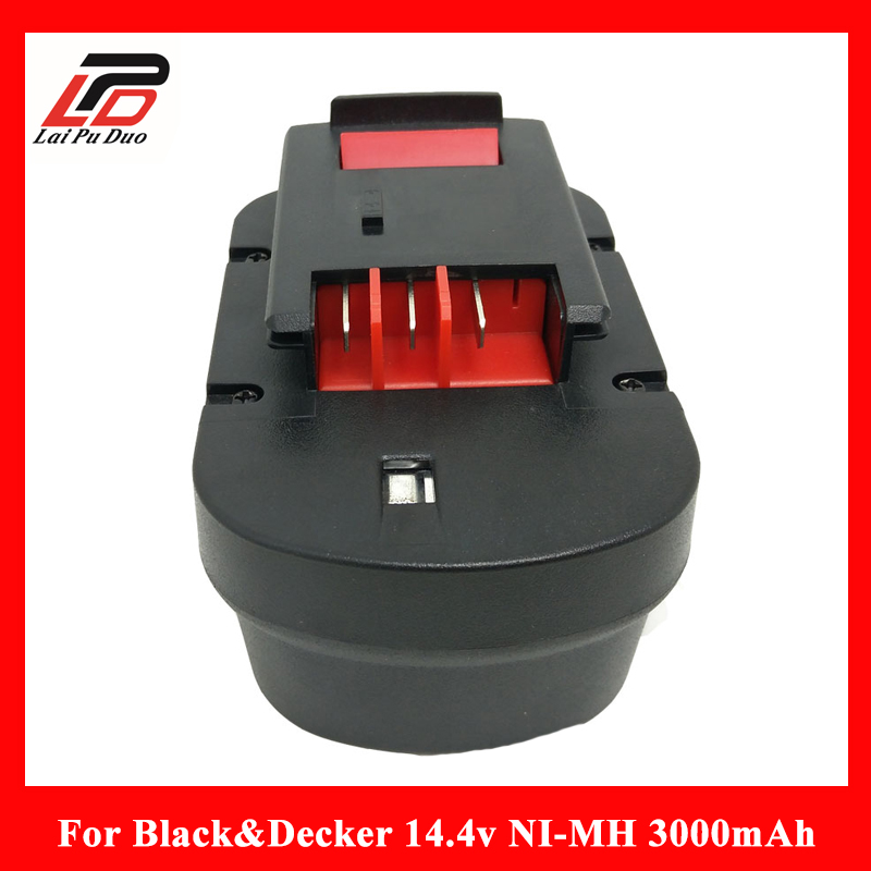 Replacement power tool battery for Black&Decker 14.4V 3000mAh A144EX,A14F,A1714,B-8316,BD1444L,BPT1048,HPB14,FS140BX,FSB14 A9251
