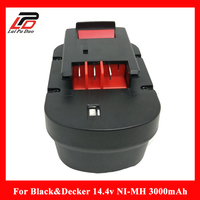 Replacement power tool battery for Black&Decker 14.4V 3000mAh A144EX,A14F,A1714,B 8316,BD1444L,BPT1048,HPB14,FS140BX,FSB14 A9251