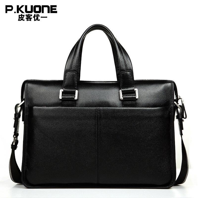 Handtaschen Natürliche 14 Marke Design Taschen 14 Schulter Brown Black Kuh Tasche 100 Garantieren Leder Aktentaschen Laptop Aus Männer Messenger Echtem 5Yq4XSU