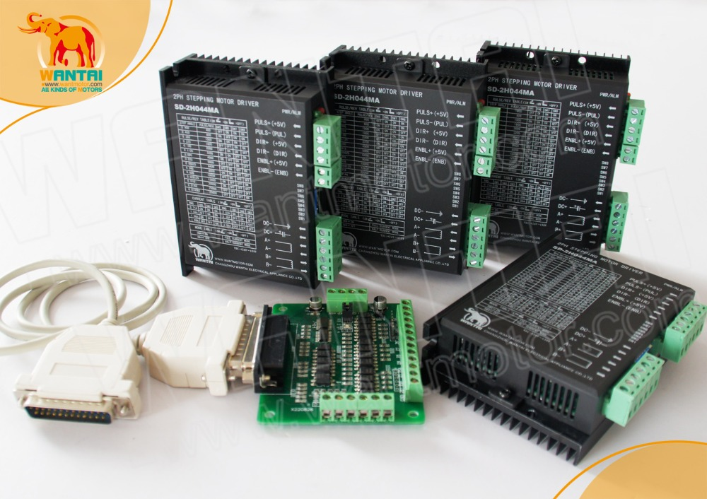 Ship From Russia! Wantai 4PCS Stepper Motor Driver DQ542MA 50V 4.2A 128Microsteps CNC Router Nema 23 type,controller wantai new sale cnc 3 axis nema 23 stepper motor 57bygh115 003 425oz in driver dq542ma 128mic 50v 4 2a engraving