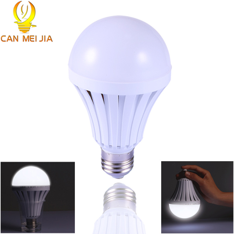 Intelligent E27 LED Bulb Energy Saving Emergency Rechargeable Led Lamps 5W 7W 9W 12W B22 Led Lights Household Outdoor Lighting led smart bulb e27 5w 7w 9w led emergency light 85 265v rechargeable battery lighting lamp for outdoor lighting bombillas