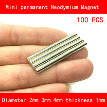 100PCS mini magnet diameter 5mm 4mm 3mm thickness 1mm 2mm n35 Rare Earth strong NdFeB Neodymium Magnet for industrial diy