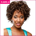1pc Short Natural Wig Curly Wigs Synthetic For African American Black Women Curl High Temperature Fiber U Part Wig