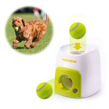 Interactive Fetch Ball Tennis Launcher Dog Pet Toys Automatic Throwing Mmachine Pet Ball Throw Device Emission With Ball(China)