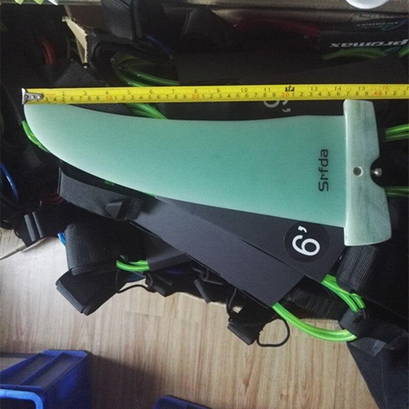 2018 Srfda longue planche planche à voile gouvernail Kiteboards Longboard fin 36 cm G10 Slalom Planche À Voile Fin
