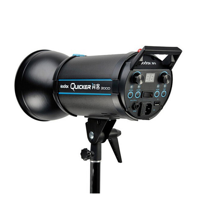 Godox Quicker 300D Photography Studio Flash Speedlite Light Quicker D Series 220V input Power Max 300WS with Lamp in Flashes from Consumer Electronics