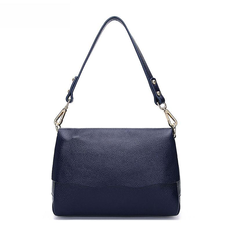 LOEIL Spring and summer new fashion first layer leather flip bag shoulder portable Messenger bag wild leather handbag