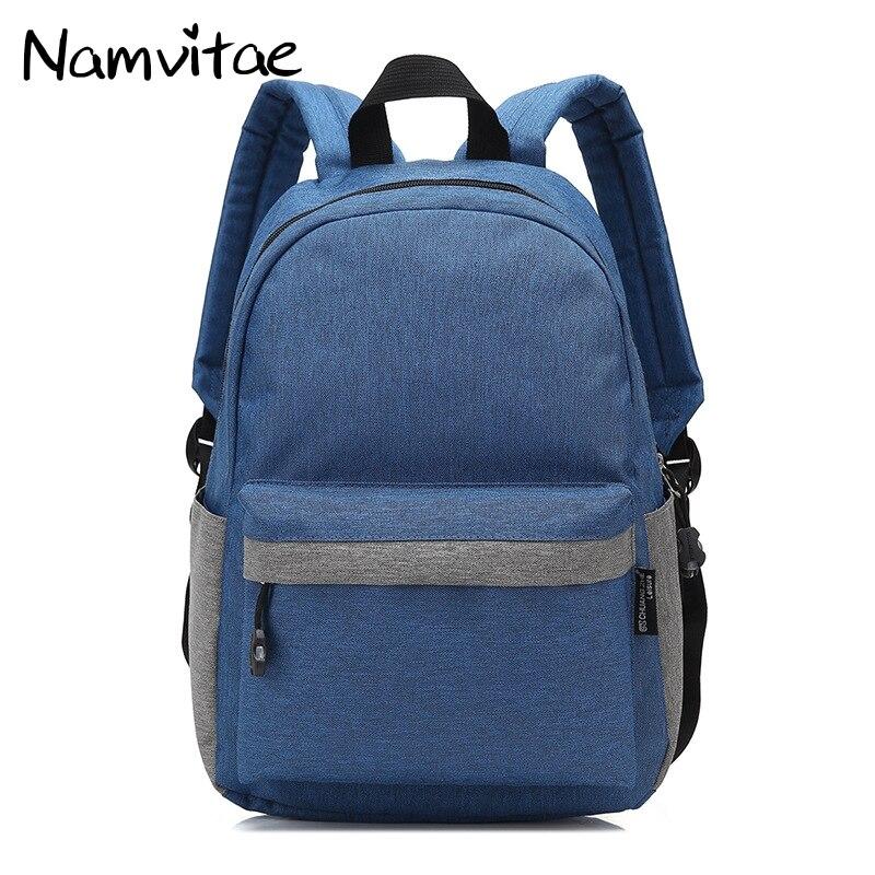 Namvitae Fashion School Men Backpack Student Laptop Backpacks for Teenagers Oxford Male Mochila Casual Daypack Bag Dropshipping