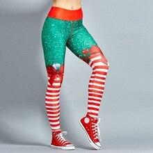*Women Christmas Yoga Pants High Waist Elastic Fitness Sport Leggings Tights Slim Running Sportswear Quick Dry TrainTrousers*
