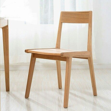 Minimalist Modern Furniture. Cafe Chairs Furniture Oak Solid Wood Coffee  Chair Dining Chaise Nordic Minimalist