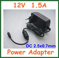 Universal AC 100-240V to DC 12V 1.5A 2.5*0.7mm / 2.5mm Charger EU US Plug Power Supply Adapter High Quality