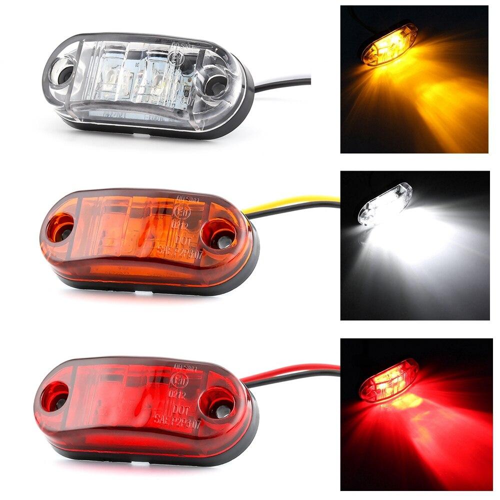 1 Piece Car External Lights DC 12V LED Auto Car Bus Truck Lorry LED Side Marker Indicator Low Led Trailer Light Rear Side Lamp