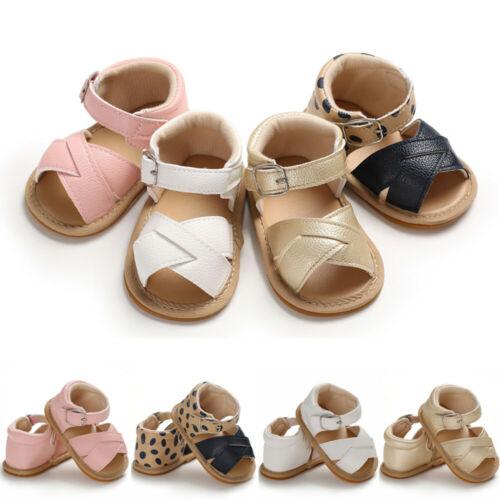 Baby Shoes Summer Baby Kid Boy Girl Sandals Prewalker Newborn Leather Soft Sole Crib Shoes