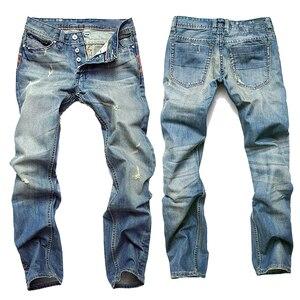 Image 2 - Джинсы gerшри мужские прямые, повседневные Узкие хлопковые брюки из денима, теплые джинсы, розничная и оптовая продажа