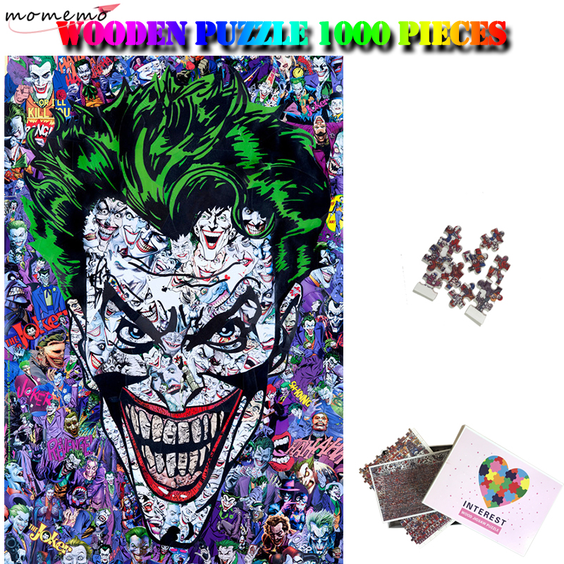 MOMEMO Joker Collection 1000 Pieces Cartoon Puzzle Wooden Adults Funny Puzzle Interesting Jigsaw Puzzles Toys 1000 Puzzle Gifts