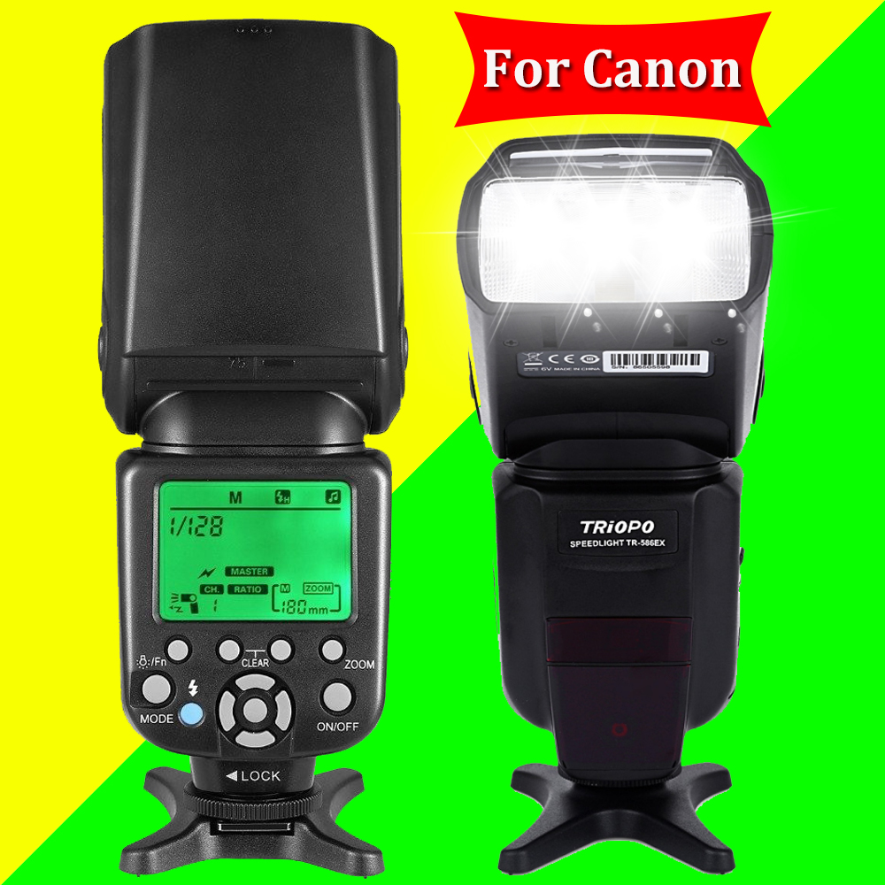 TRIOPO TR-586EX For Canon 6D 5D2 5D3 1200D DSLR Cameras Wireless TTL Flash Speedlite Flashlight As Yongnuo YN565EXII YN-568EX II dx world triopo tr 988 professional speedlite ttl camera flash with high speed sync for canon and nikon digital slr cameras