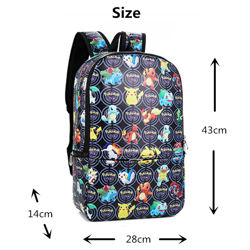 ae2155323d28 Anime Pokemon Backpack Pocket Monster School Bags Ash Ketchum Pikachu  School Backpacks Girls Boys Toddler Bag Kids Book Bags