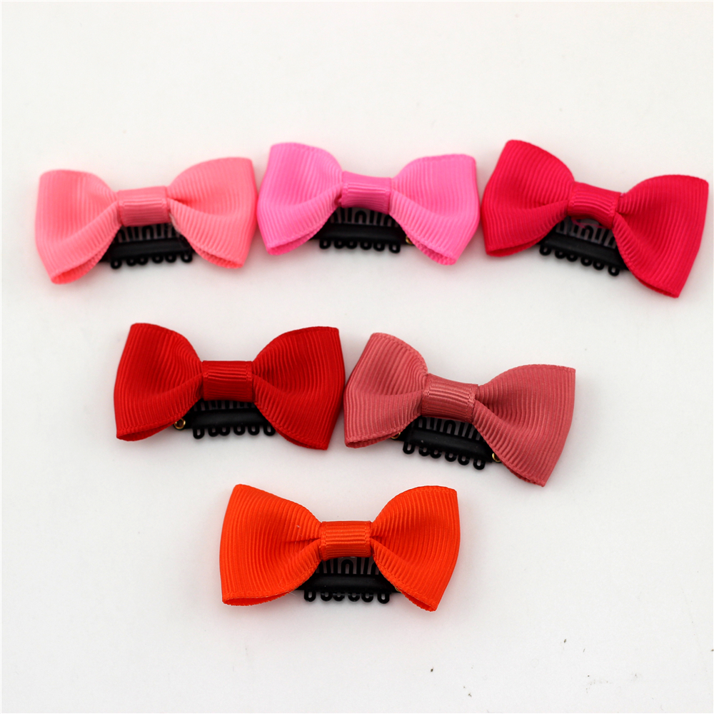 """10pc 2"""" Little Bow Solid Ribbon Bows Babies Fine Wispy Hair Mini Latch Wisp Clip Newborn Small Hair Clip Infant Hairbows Hairpin"""