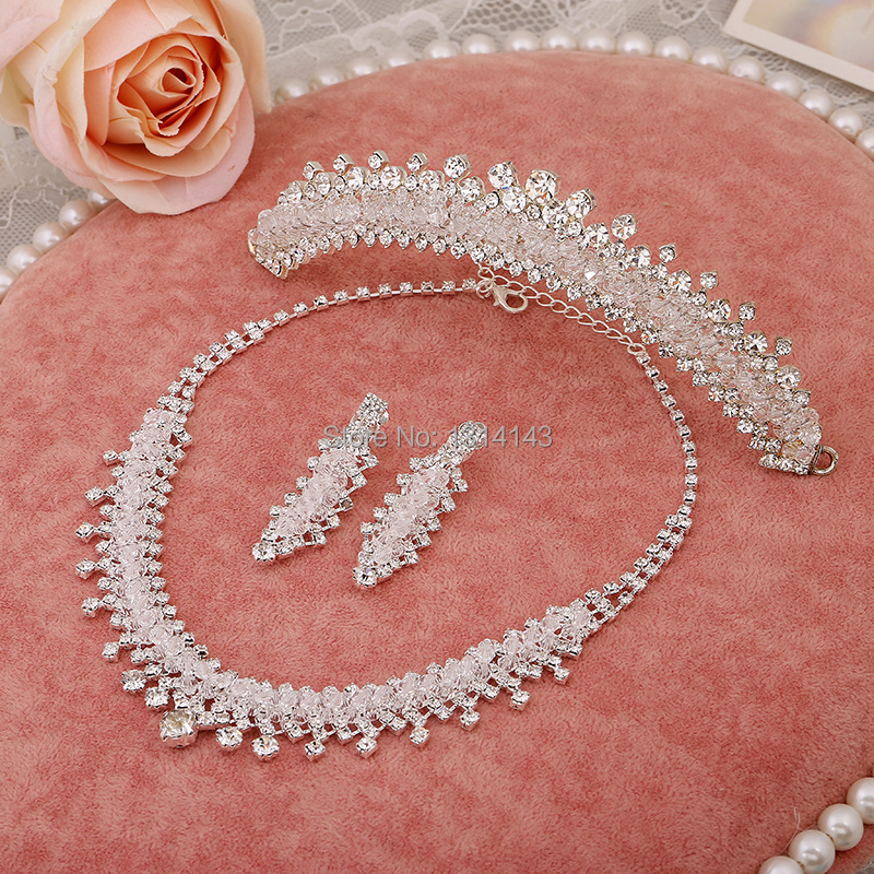 Новые ювелирные изделия ожерелье невесты свадебные ювелирные изделия из трех частей Свадебные аксессуары жемчужные ювелирные изделия